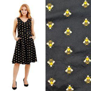 Eva Rose Honey Buzz Swing Dress in Black